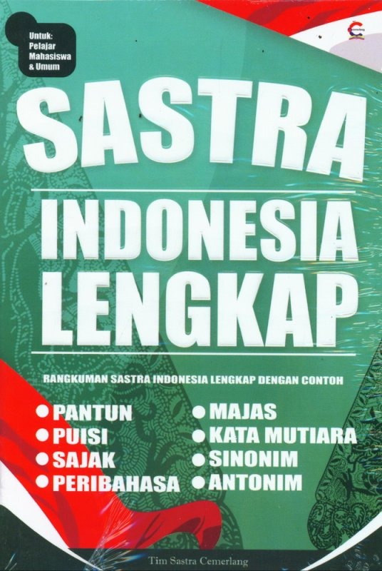 Cover Buku Sastra Indonesia Lengkap