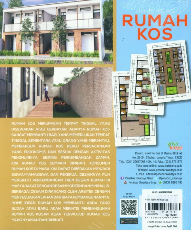 Cover Belakang Buku Home Ideas Rumah Kos