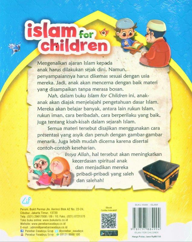 Cover Belakang Buku Islam For Children - Belajar Islam Sedini Mungkin