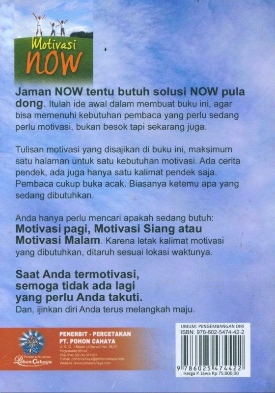 Cover Belakang Buku Motivasi Now