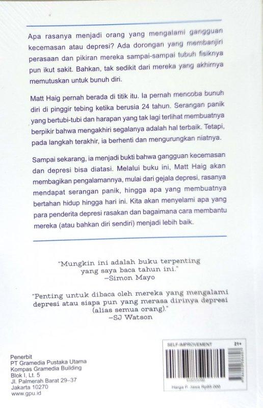 Cover Belakang Buku Reasons to Stay Alive