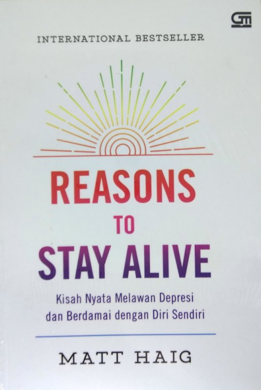 Cover Depan Buku Reasons to Stay Alive