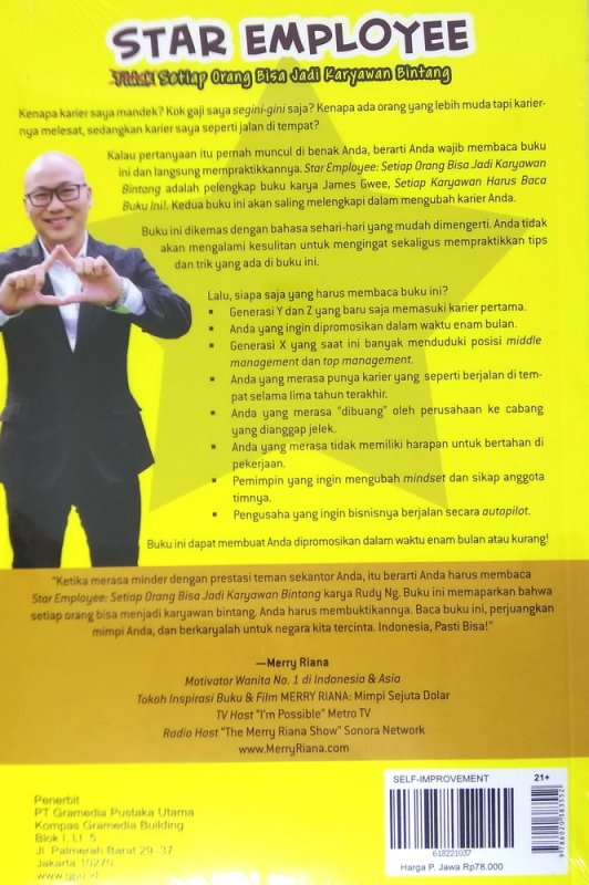 Cover Belakang Buku Star Employee: Setiap Orang Bisa Jadi Karyawan Bintang