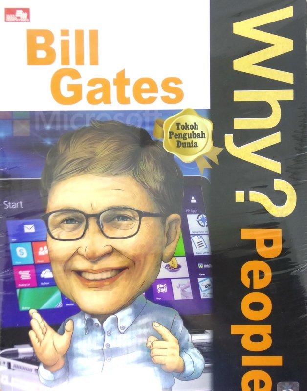 Cover Buku Why? People Bill Gates-sang pemilik microsoft