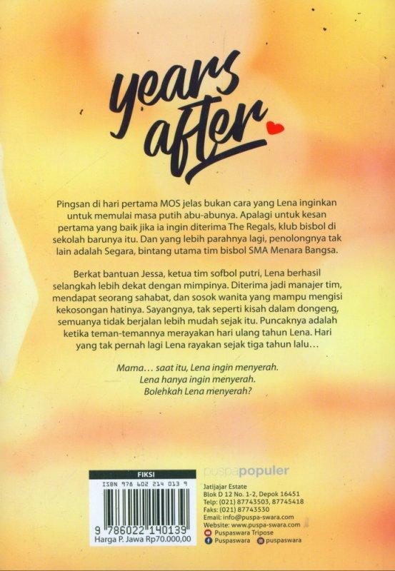 Cover Belakang Buku Years After