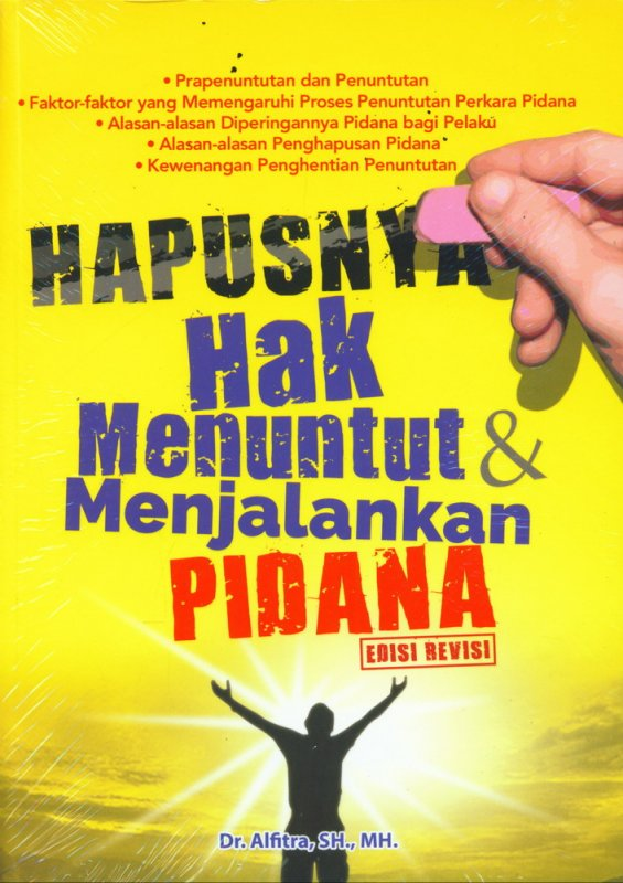 Cover Buku Hapusnya Hak Menuntut & Menjalankan Pidana Edisi Revisi