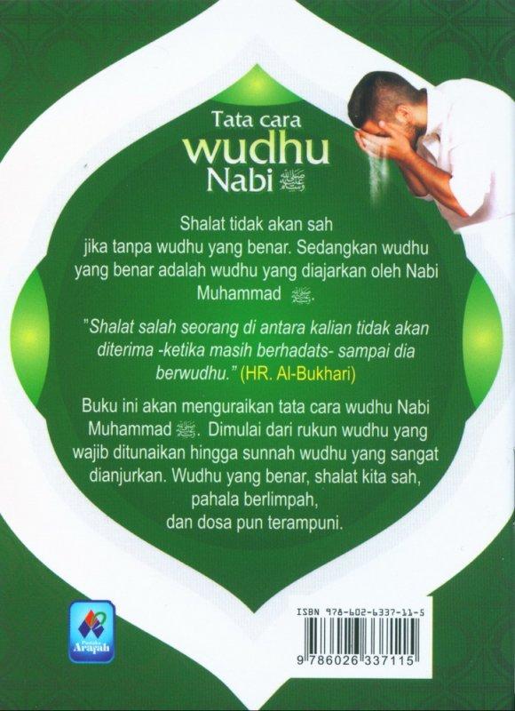 Cover Belakang Buku Tata Cara Wudhu Nabi Muhammad (buku saku)