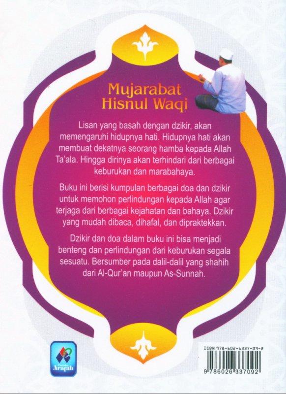 Cover Belakang Buku Mujarabat Hisnul Waqi (buku saku)