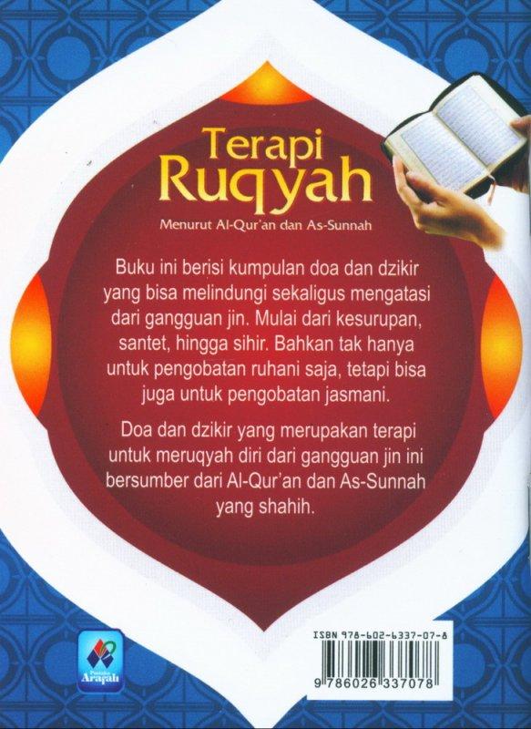 Cover Belakang Buku Terapi Ruqyah Menurut Al-Quran dan As-Sunnah (buku saku)