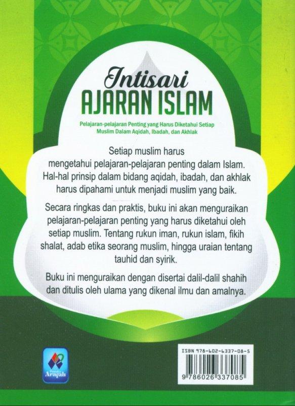 Cover Belakang Buku Intisari Ajaran Islam (buku saku)