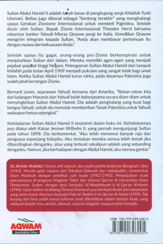 Cover Belakang Buku Sultan Abdul Hamid II - The Last Khalifa