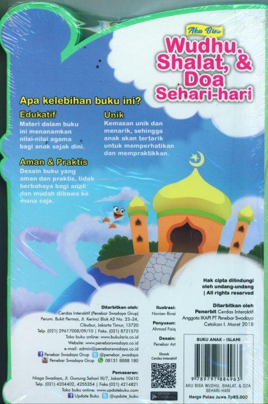 Cover Belakang Buku Aku Bisa Wudhu, Shalat, & Doa Sehari-hari