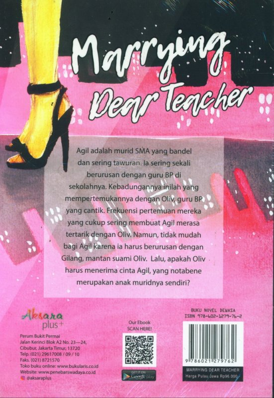 Cover Belakang Buku Marrying Dear Teacher (reguler)