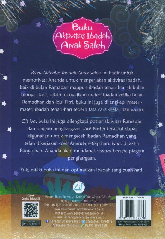 Cover Belakang Buku Buku Aktivitas Ibadah Anak Saleh