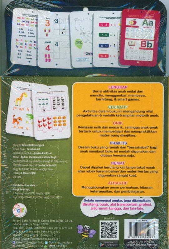 Cover Belakang Buku Aku Anak Pintar (Ring Flash Card) untuk PAUD & TK
