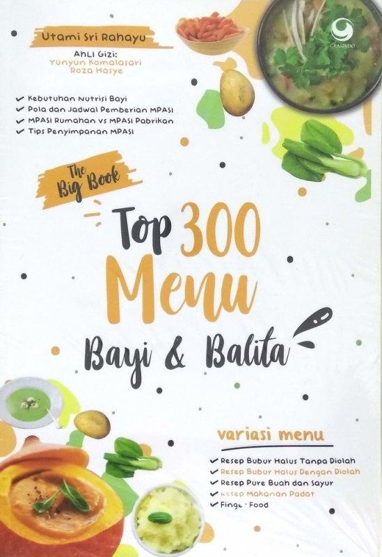 Cover Buku The Big Book Top 300 Menu Bayi Dan Balita