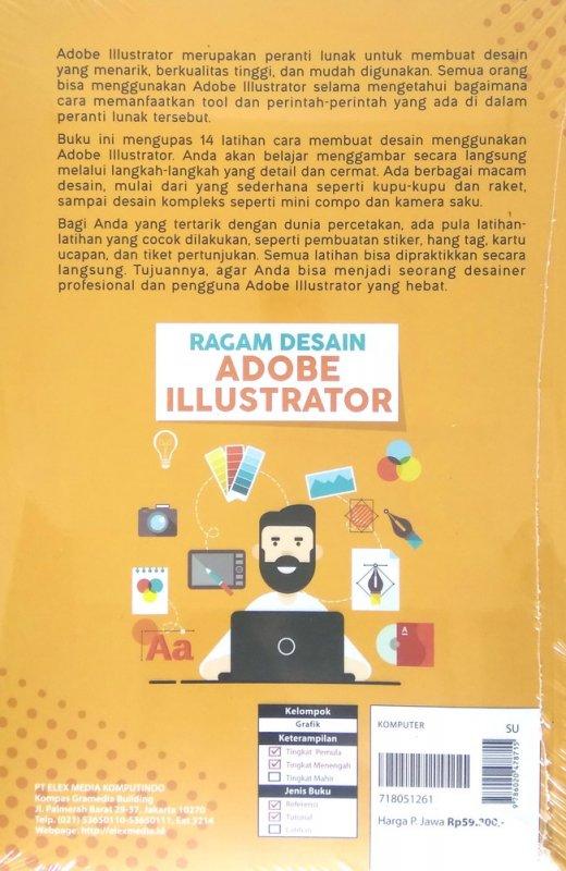 Cover Belakang Buku Ragam Desain Adobe Illustrator