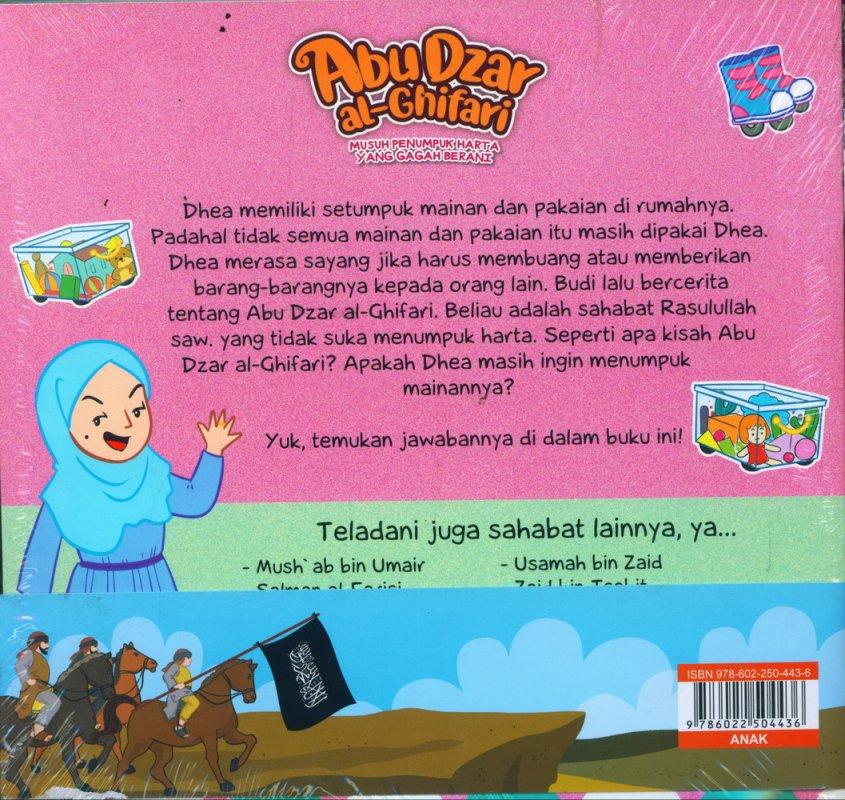 Cover Belakang Buku Seri Sahabat Rasulullah Saw. : Abu Dzar al-Ghifari - Musuh Penumpuk Harta yang Gagah Berani (Full Color)