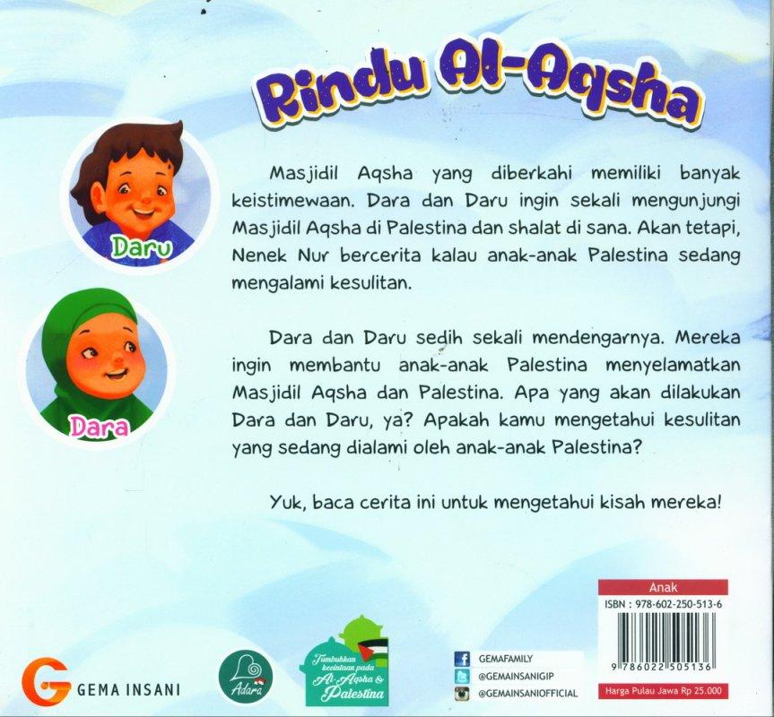Cover Belakang Buku Rindu Al-Aqsha (full color)