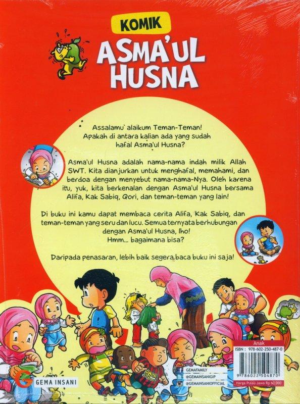 Cover Belakang Buku Komik Asmaul Husna #1
