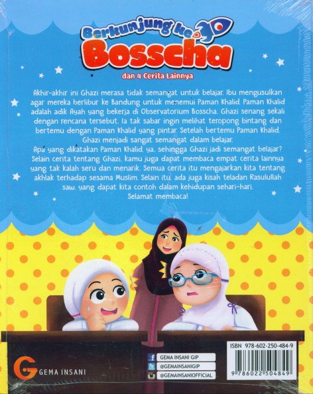 Cover Belakang Buku Berkunjung ke Bosscha dan 4 Cerita Lainnya