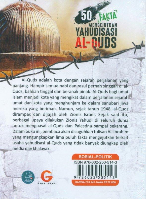 Cover Belakang Buku 50 Fakta Mengejutkan Yahudisasi Al-Quds