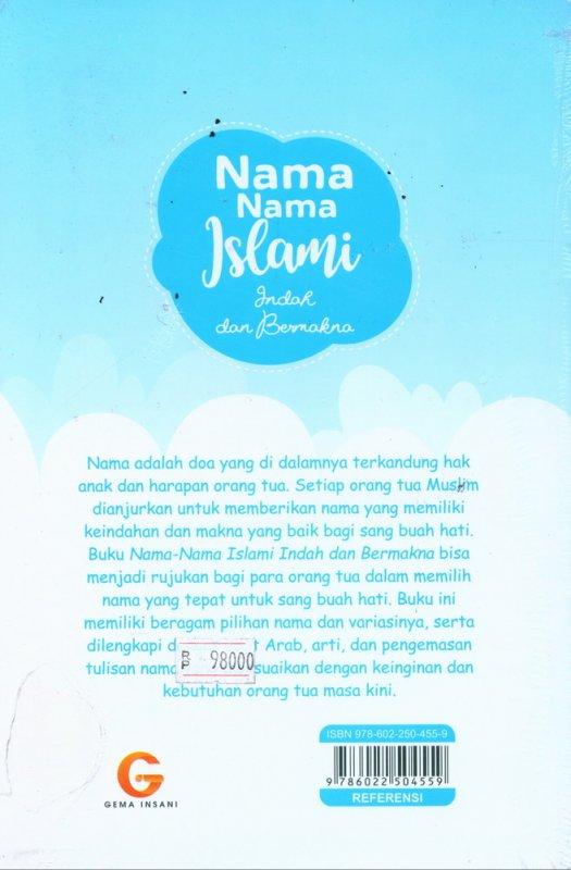 Cover Belakang Buku Nama-Nama Islami Indah dan Bermakna