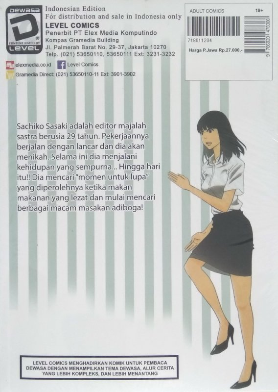 Cover Belakang Buku LC: A Meal Makes Her Forget 1 (Promo gedebuk)