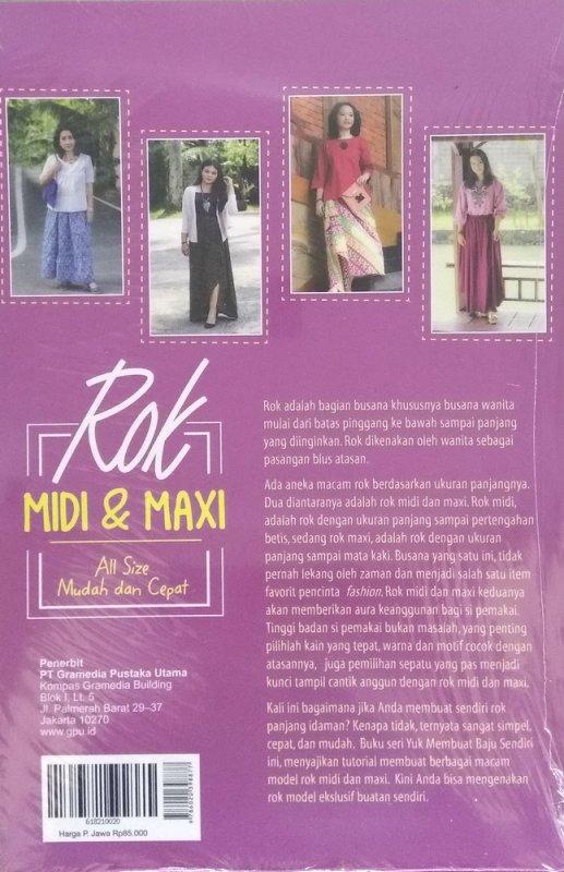 Cover Belakang Buku Yuk Jahit Baju Sendiri: Rok Midi & Maxi