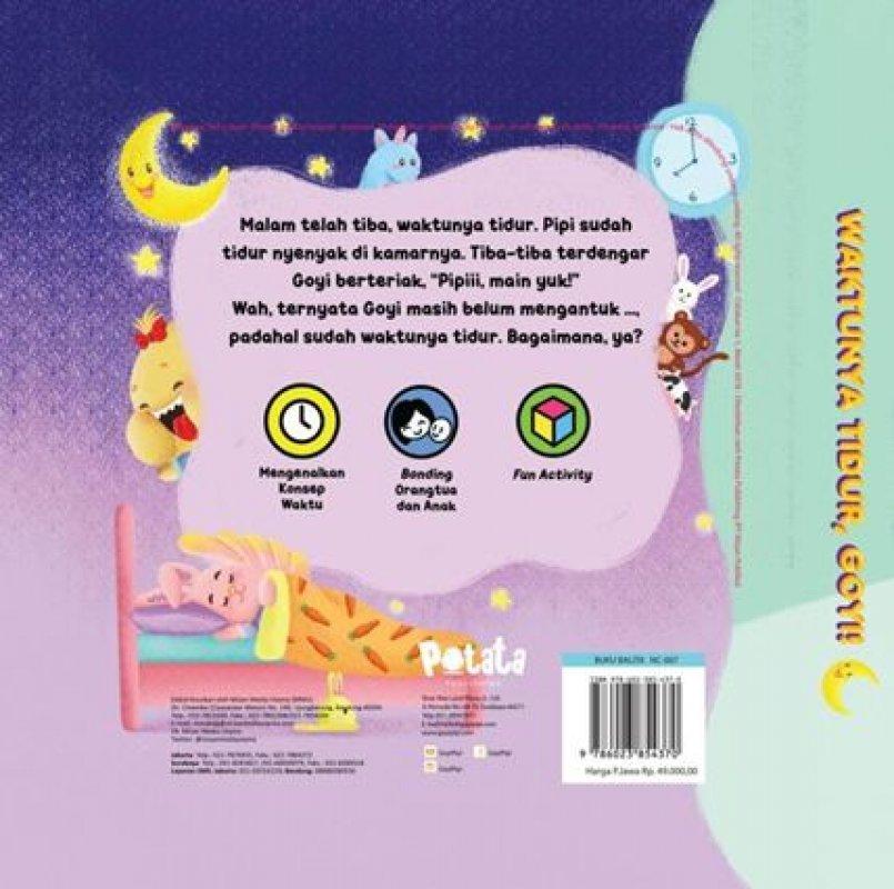 Cover Belakang Buku Waktunya Tidur, Goyi