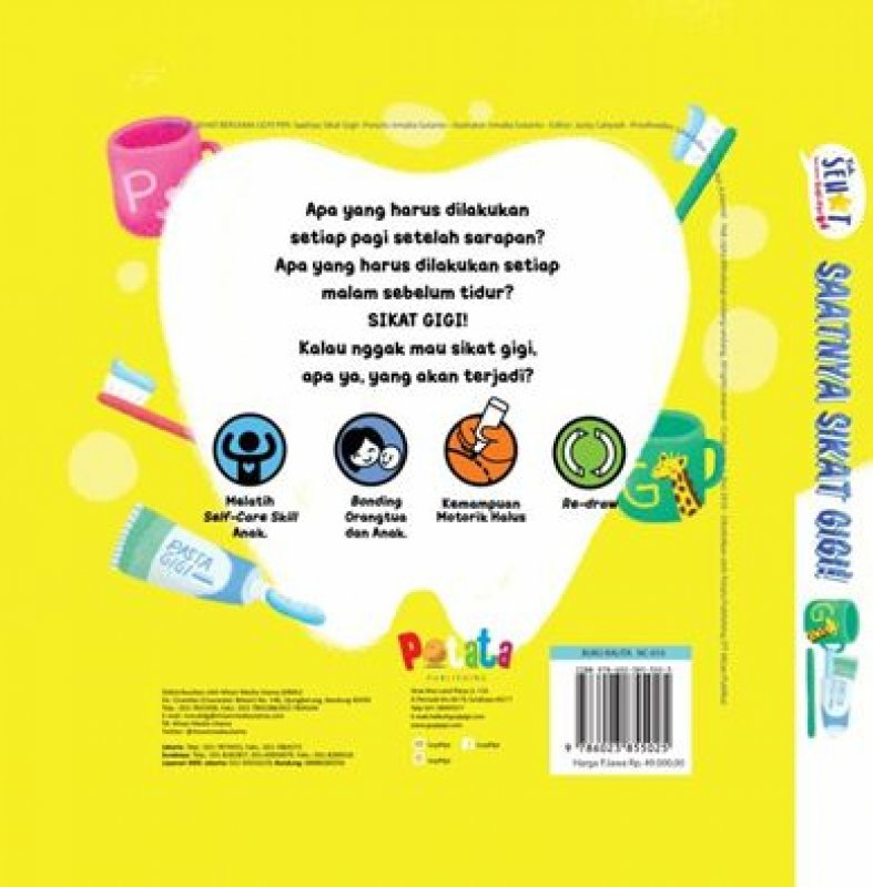 Cover Belakang Buku Saatnya Sikat Gigi!