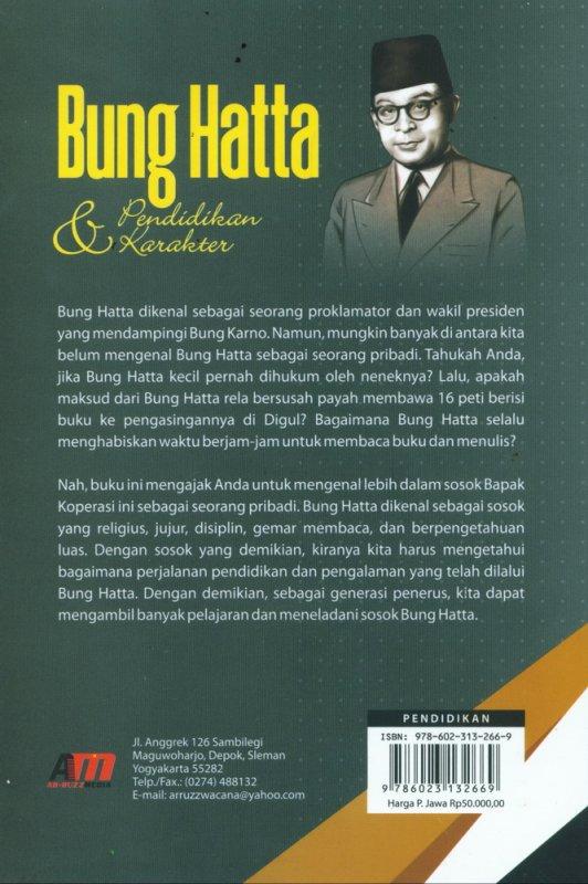 Cover Belakang Buku Bung Hatta & Pendidikan Karakter