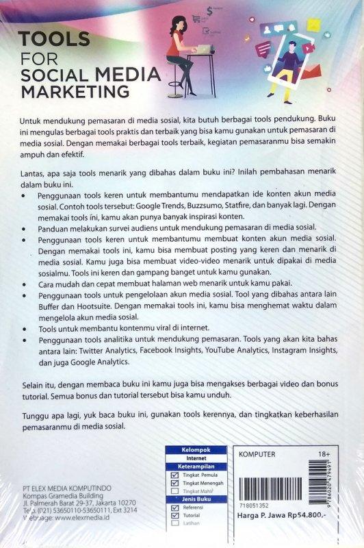 Cover Belakang Buku Tools for Social Media Marketing