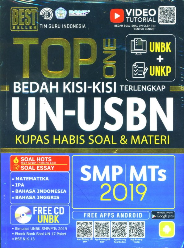 Cover Buku TOP ONE UN-USBN SMP/MTs 2019