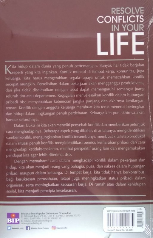 Cover Belakang Buku Resolve Conflicts in Your Life