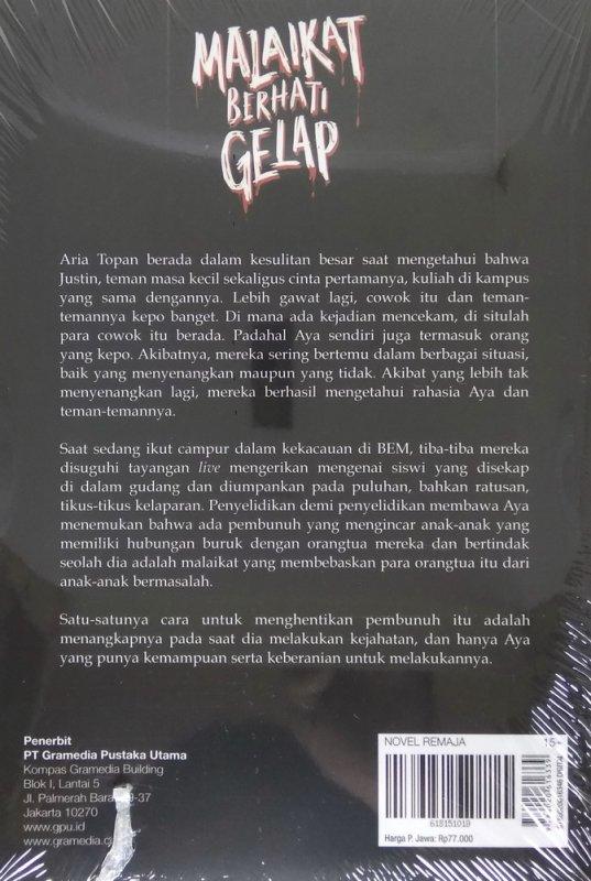 Cover Belakang Buku Dark Series #3: Malaikat Berhati Gelap
