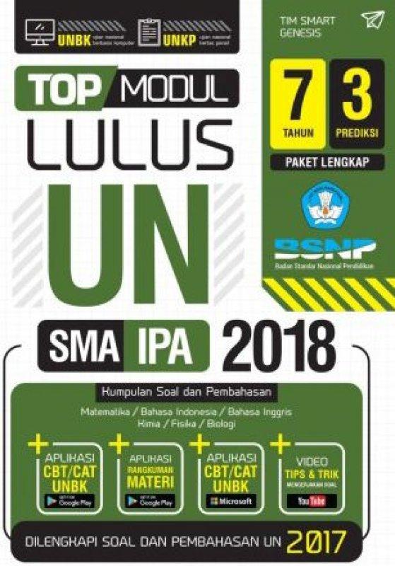 Cover Buku TOP MODUL LULUS UN SMA IPA 2018