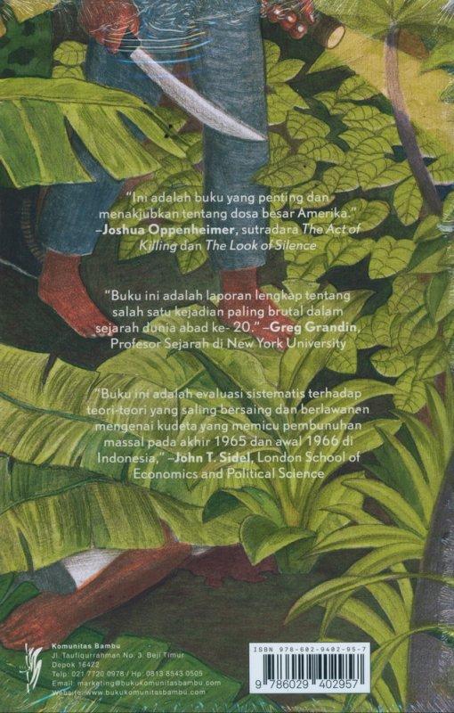 Cover Belakang Buku Musim Menjagal: Sejarah Pembunuhan Massal di Indonesia 1965-1966
