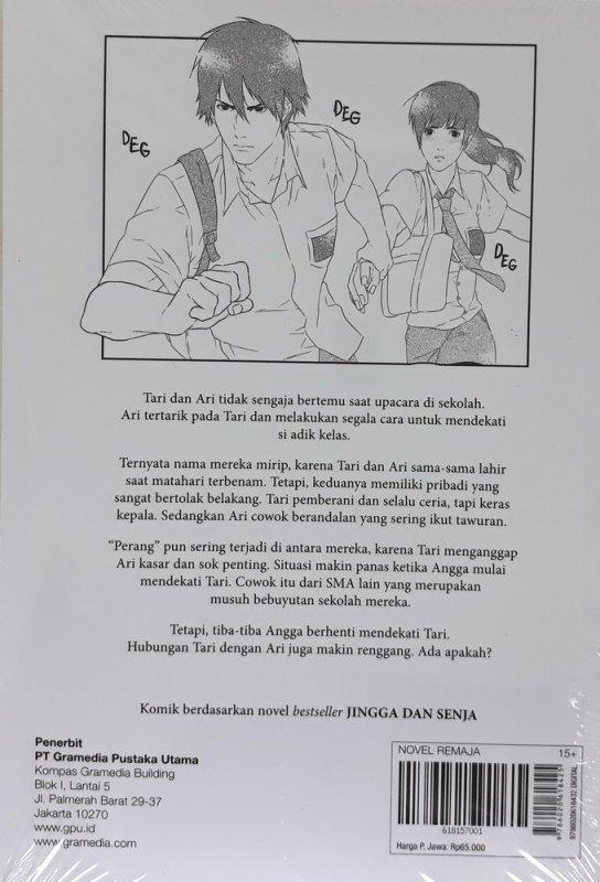 Cover Belakang Buku Komik: Jingga dan Senja