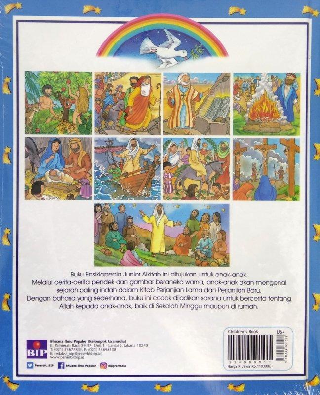 Cover Belakang Buku Ensiklopedia Junior: Alkitab - Cover Baru 2018