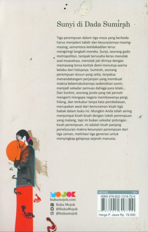 Cover Belakang Buku Sunyi di Dada Sumirah