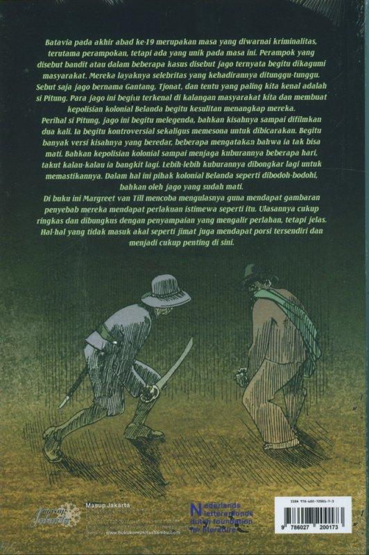 Cover Belakang Buku Batavia Kala Malam: Polisi, Bandit, dan Senjata Api