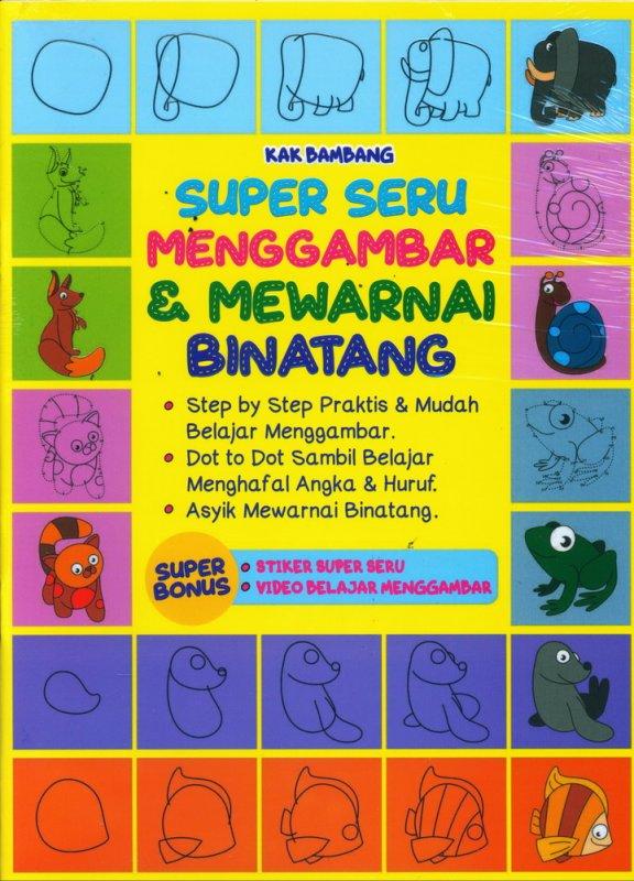 Cover Buku Super Seru Menggambar & Mewarnai Binatang
