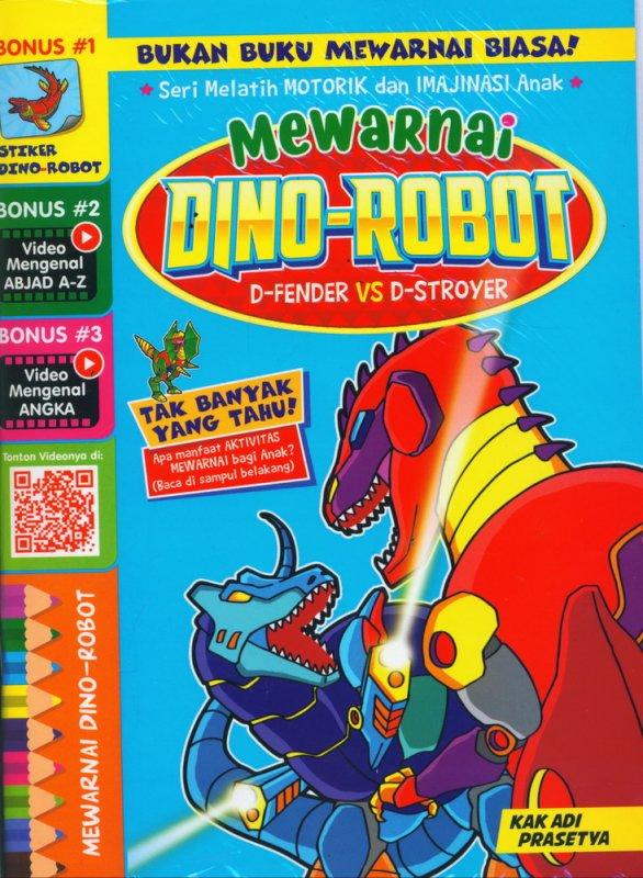 Buku Mewarnai Dino Robot D Fender Vs D Stroyer Bukukita