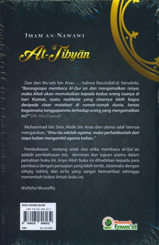 Cover Belakang Buku AT TIBYAN Adab Berinteraksi Dengan Al-Quran (Hard Cover)