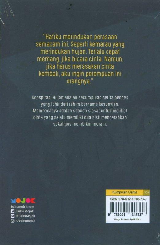 Cover Belakang Buku Konspirasi Hujan - Kumpulan Cerita