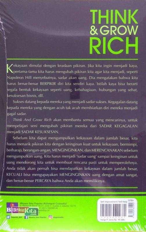 Cover Belakang Buku Think and Grow Rich (Edisi Terupdate Abad 21)