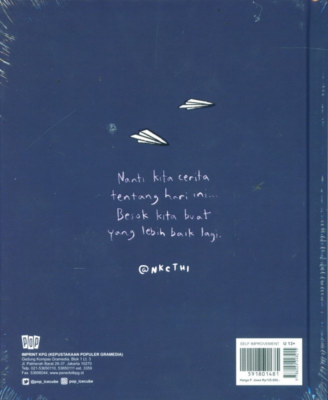 Cover Belakang Buku Nanti Kita Cerita Tentang Hari Ini (Hard Cover)