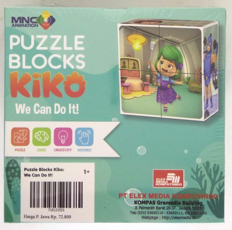 Cover Belakang Buku Opredo Puzzle Blocks Kiko: We Can Do It!
