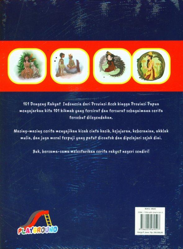 Cover Belakang Buku Kumpulan Dongeng Rakyat Indonesia